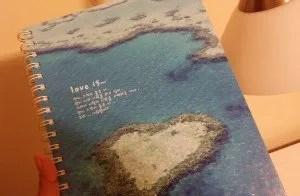 diary,notebook,ocean,blue,island
