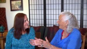Johanna Ely and Nina Serrano on Literary Dialogs with Nina Serrano, airing on August 18, 2018 on ninaserrano.com.