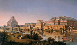 Babilonia rodeada por agua