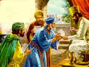 Los sátrapas convenciendo al rey Darío a favor del decreto