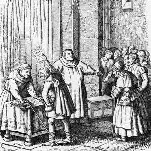 Tetzel vendiendo indulgencias papales