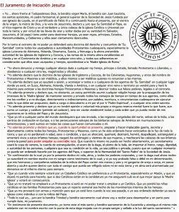 Juramento de iniciación jesuita