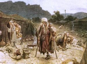 Los cuatro leprosos en el campo sirio.
