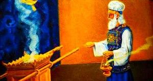 Sumo Sacerdote terrenal en el día del juicio simbólico.