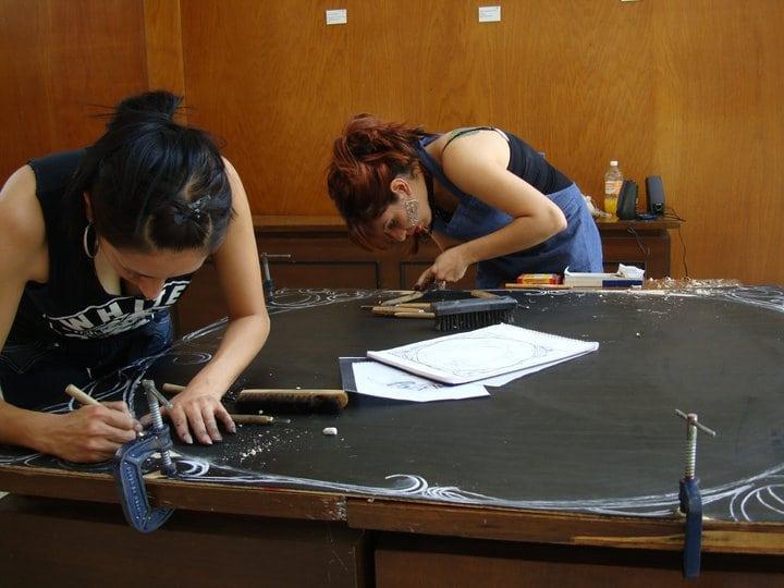 Grabado en corredor roma condesa 2011