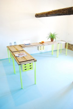El cerezo en Flúor, sistema de mesas