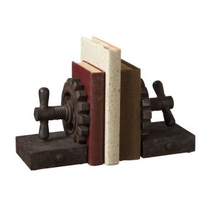 Rusted Gear Bookends