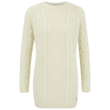 women's kirby cable crew sweater - vanilla
