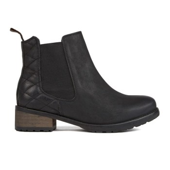 women's caveson leather chelsea boots - black