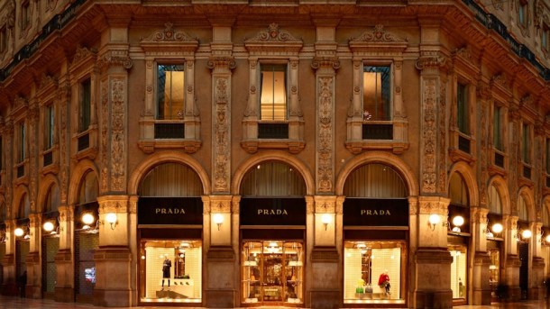 Prada Modern Luxury Milan Boutique