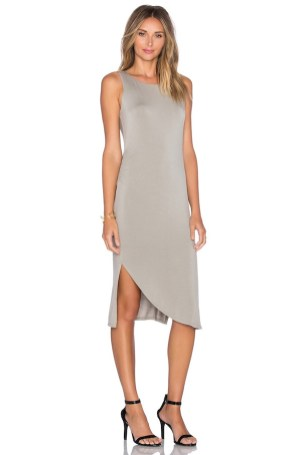Heather Shirred Swoop Dress Side, $127