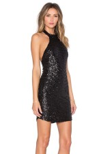 Reverse Geo Sequin Halter Dress Side, $75