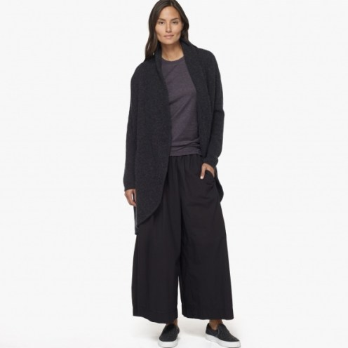 James Perse Boiled Cashmere Coat Anthracite, $695