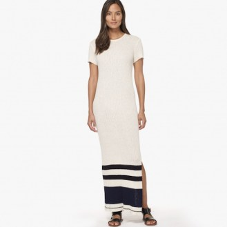 James Perse Striped Cotton Sweater Dress, $395