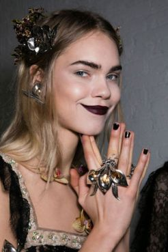 New York Fashion Week Trends Red Lips & Drama Brows Rodarte