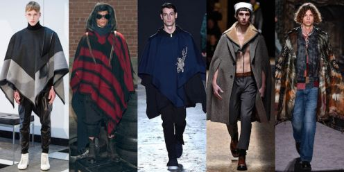 New York Fashion Week Trends Menswear Capes / Cloaks