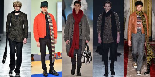 New York Fashion Week Trends Menswear Oversized Scarves