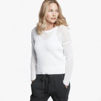 James Perse Cotton Linen Crew White, $295