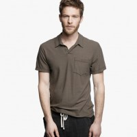 James Perse Cotton Linen Pocket Polo Shirt Platoon, $135
