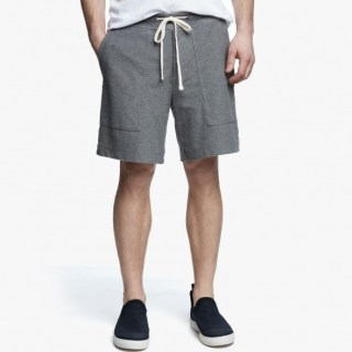 James Perse Heathered Knit Short Heather Grey, $175