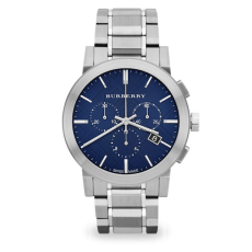 Burberry Brushed Stainless Steel Chronograph Watch, $695