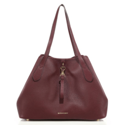 Burberry Honeybrook Medium Derby Leather Tote Mahogany, $1,395