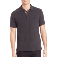 Burberry Oxford Polo Charcoal, $175