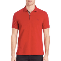Burberry Oxford Polo Red, $175