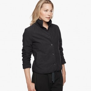 James Perse Brushed Italian Cotton Jacket Abyss, $395