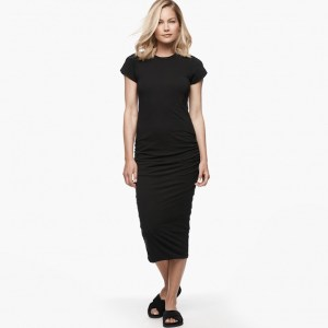 James Perse Classic Skinny Dress Black, $225
