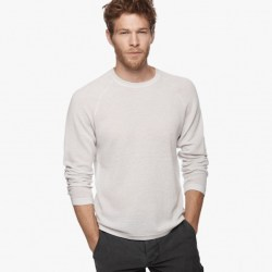James Perse Cotton Cashmere Thermal Raglan Luna, $295