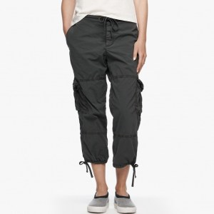 James Perse Cropped Cargo Pant Carbon Pigment, $245