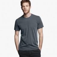 James Perse Short Sleeve Crew Neck Neptune Pigment, $60