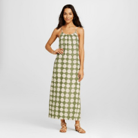 Merona Printed Maxi Dress Green, $29.99