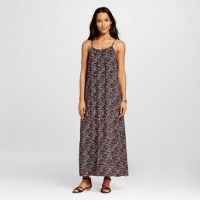 Merona Printed Maxi Dress Navy, $29.99
