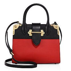 Prada City Small Leather Top-Handle Accordion Tote, $3,080