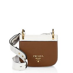 Prada Pionniere Leather Saddle Bag, $1,940
