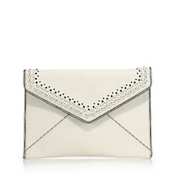 Rebecca Minkoff Leo Leather Envelope Clutch, $125