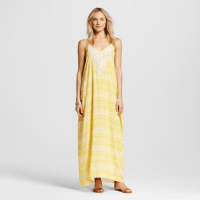 Xhilaration Crochet Trim Maxi Yellow, $29.99