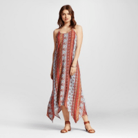 Xhilaration Cross Back Sharkbite Maxi Dress, $27.99