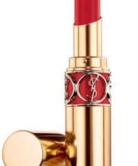 YSL Rouge Volupte Shine 21 Red in Sunlight, $37