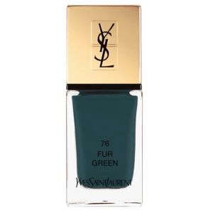 YSL Scandal Collection La Laque Couture 76 Fur Green, $28