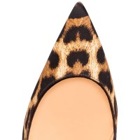 Christian Louboutin Leopard Print Satin Pumps Top, $695