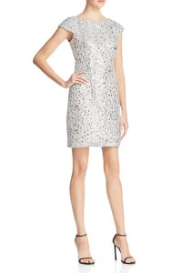 Adrianna Papell Cap-Sleeve Sequined Dress, $160