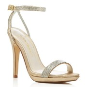 Caparros Destiny Metallic Rhinestone Sandals, $85