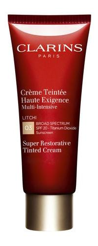 Clarins Super Restorative Tinted Cream SPF20 03 Litchi, $84