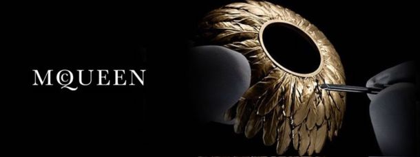 Alexander McQueen Savage Beauty McQueen Parfum Begins the Journey Antiqued Feathers Crown