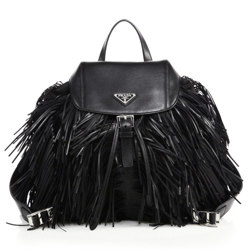 Prada Nylon Fringe Backpack, $1,720