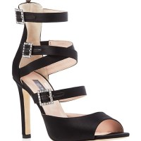 SJP Fugue Satin Strappy Sandals, $485