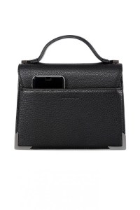 Mackage Keeley Dual Leather Shoulder Bag Black, $450